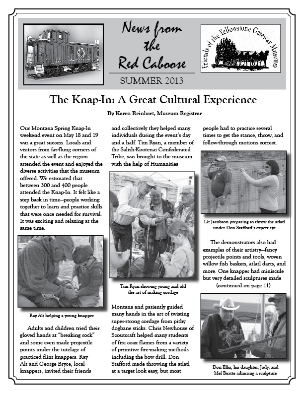 Yellowstone Gateway Museum Summer 2013 Newsletter