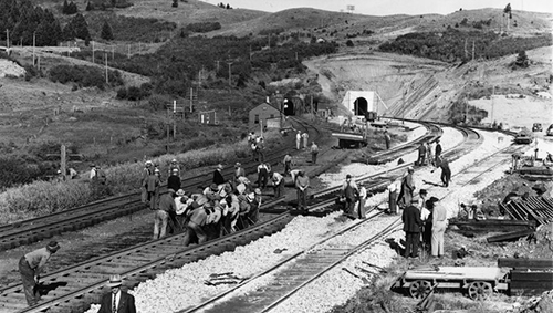 Muir Tunnels, Bozeman Pass, and railroad workers