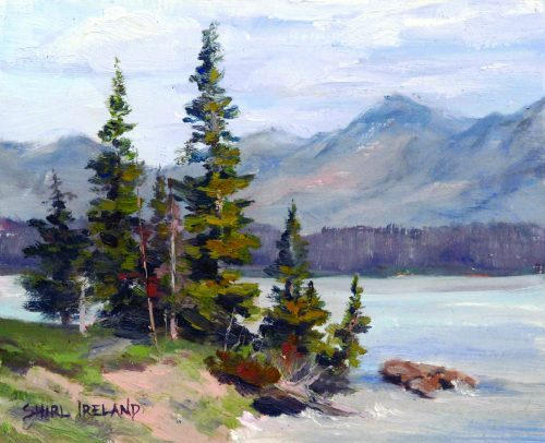 Oil painting of Storm Point by Shirl Ireland