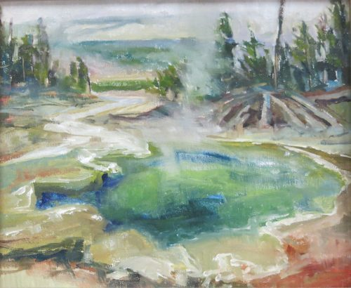 Emerald Pool oil painting by Robert Spannring