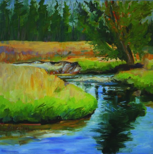 Slow Flow painting by Bob Newhall