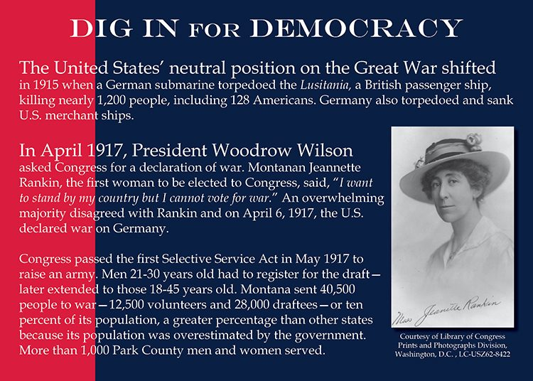 Dig in for Democracy. Jeannette Rankin