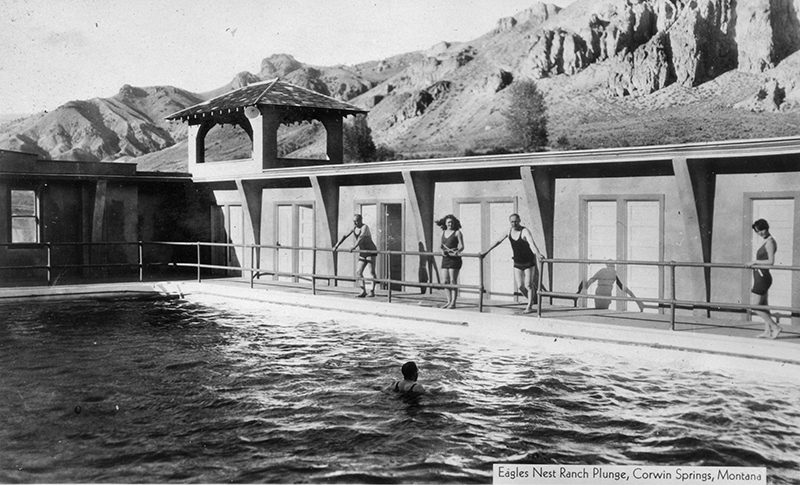 Swimmers, Corwin Hot Springs pool