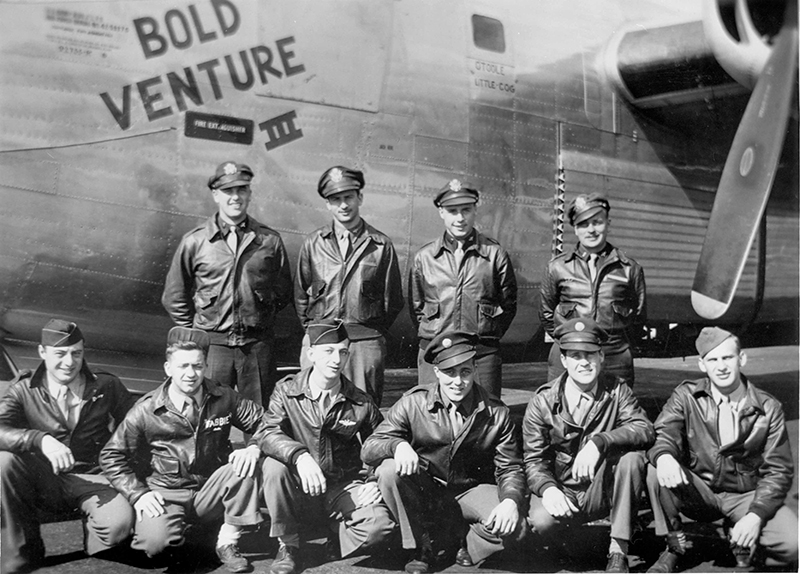 WWII plane and crew